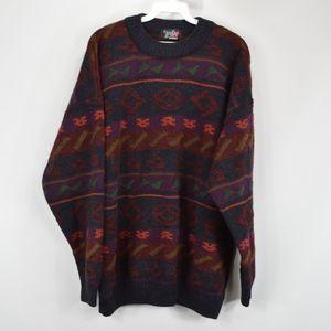 Vintage 80s Wix Mens Large Crewneck Sweater Maroon